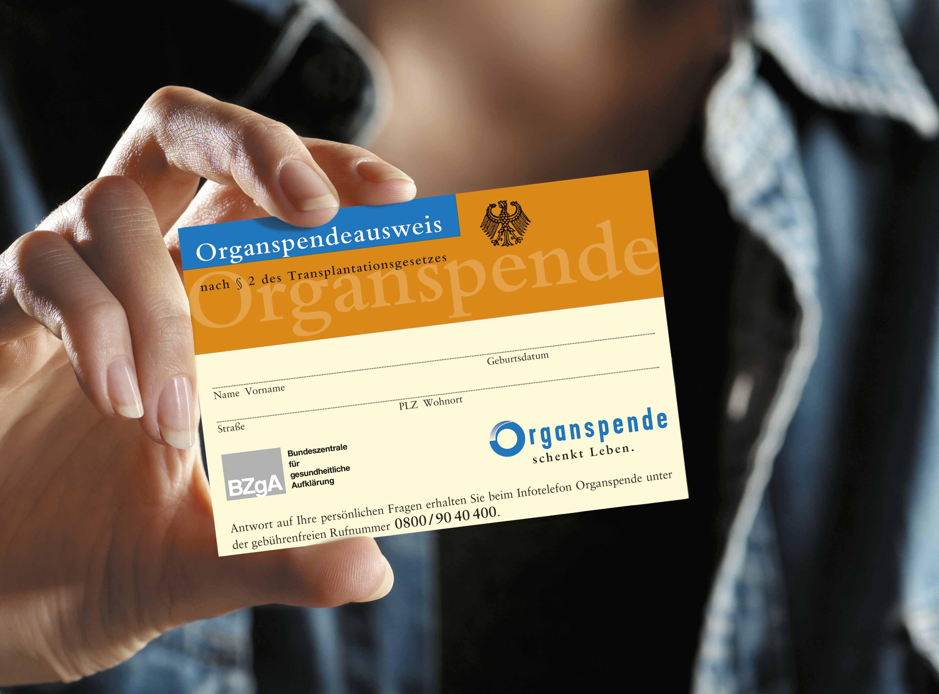 Organ-sepnde-ausweis Bild: BZgA
