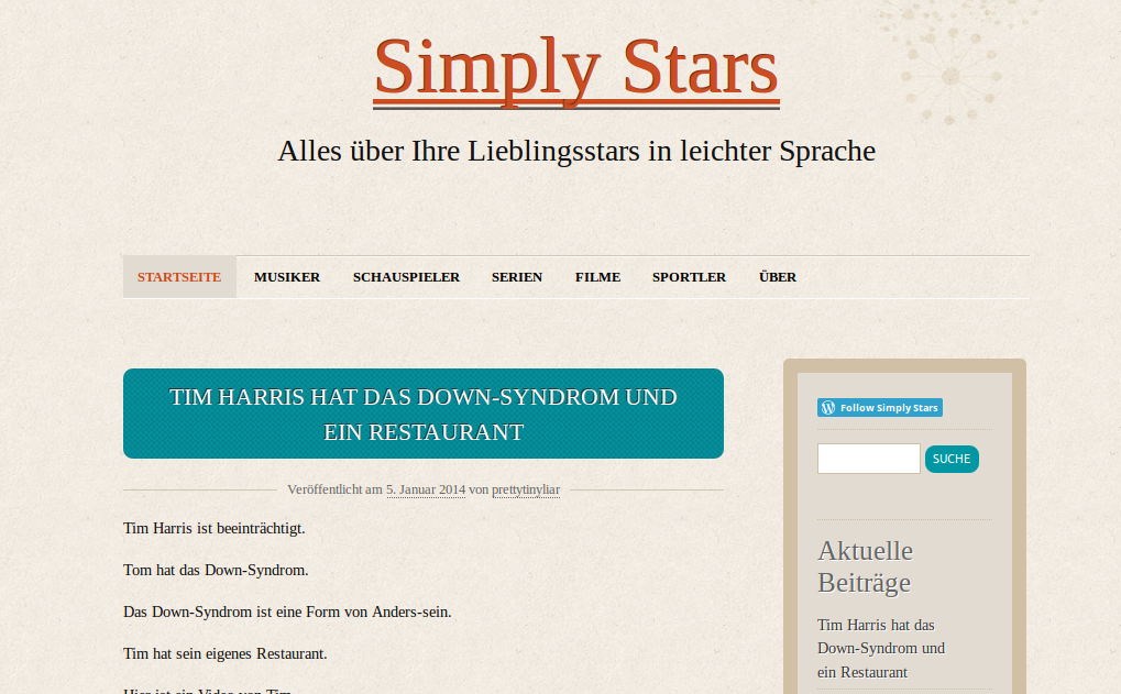 Bildschirmfoto von Simply Stars