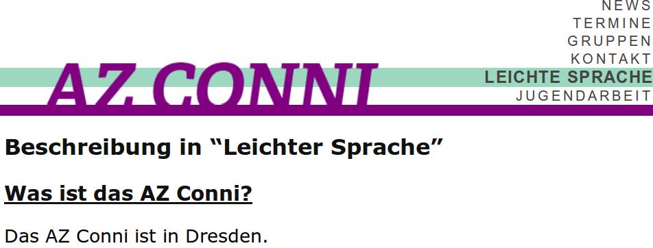 Bildschirmfoto von azconni.de