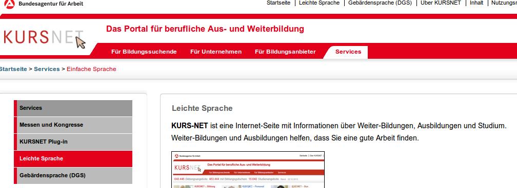 Bildschirmfoto von KURS NET