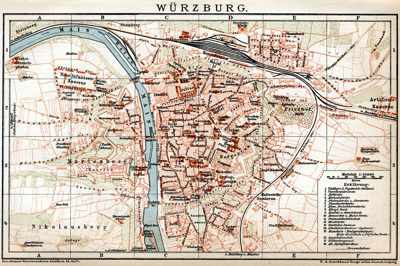 Stadtplan Wurzburg